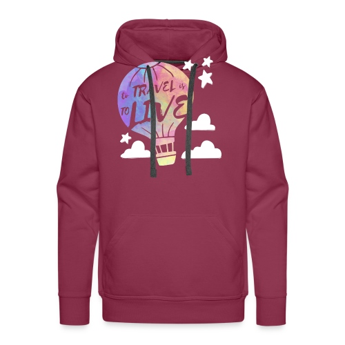 To Travel Is To Live - Men's Premium Hoodie