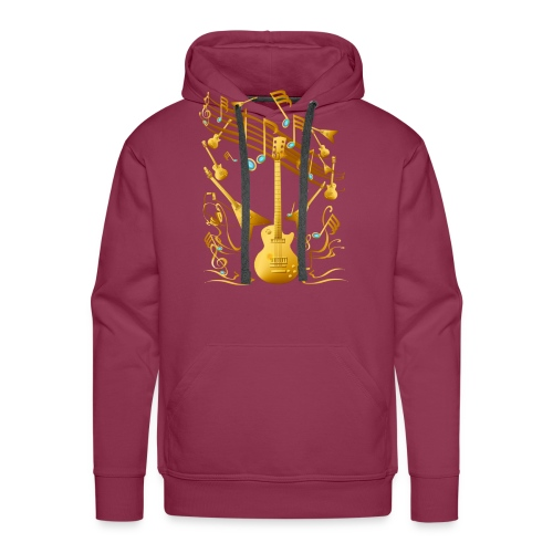 Gold Guitar Party - Men's Premium Hoodie