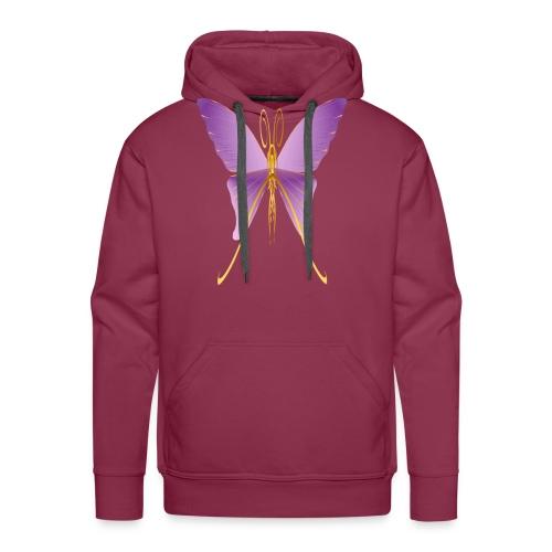One Big Purple Butterfly - Men's Premium Hoodie