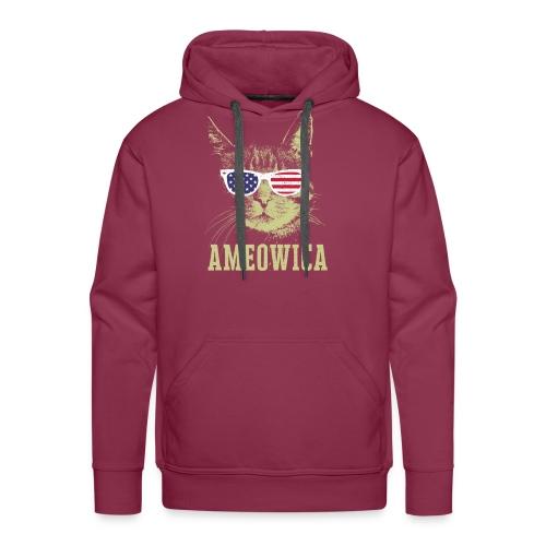 Ameowica Shirt Funny Cat Daddy Shirt for Men - Men's Premium Hoodie