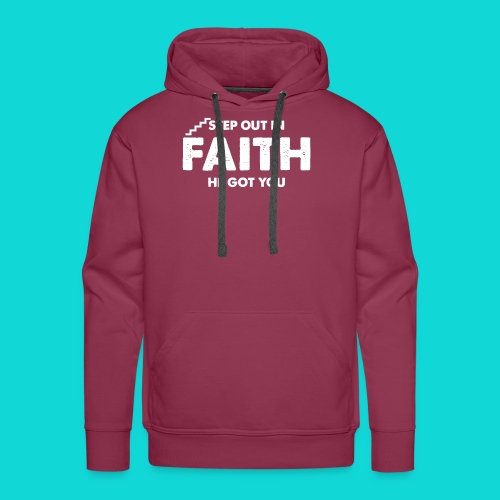 Step Out In Faith - Men's Premium Hoodie