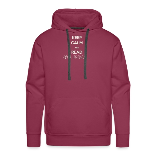 Got A Ukulele Keep Calm - Men's Premium Hoodie
