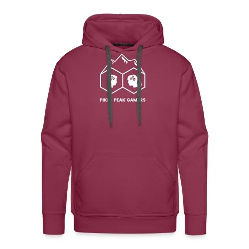 Pikes Peak Gamers Logo (Transparent White) - Men's Premium Hoodie