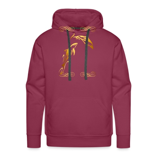 Two Gold Dolphins with frilly frames - Men's Premium Hoodie
