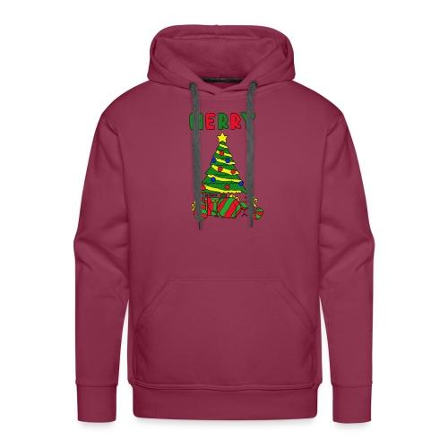 merry christmas tree instruments - Men's Premium Hoodie