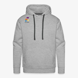 White with Colorful Shapes Abstract Logo 2 - Men's Premium Hoodie