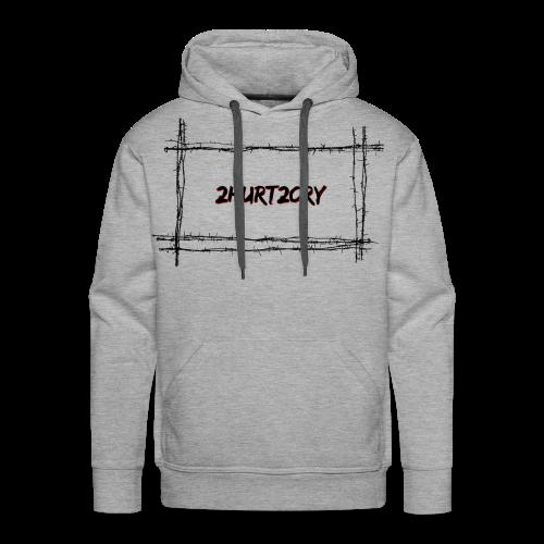 2hurt2cry barbwire - Men's Premium Hoodie
