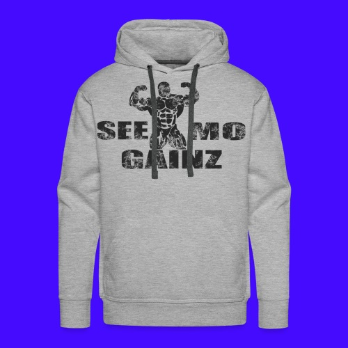 see mo gainz - Men's Premium Hoodie