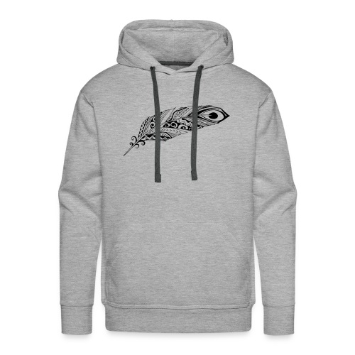 feather 3 black - Men's Premium Hoodie