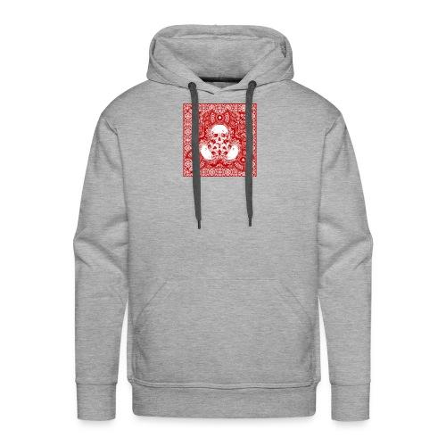 lucky skull bandanna design - Men's Premium Hoodie