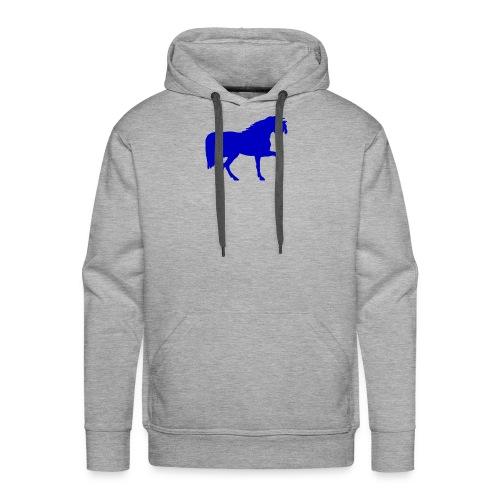 blue horse hoodie - Men's Premium Hoodie