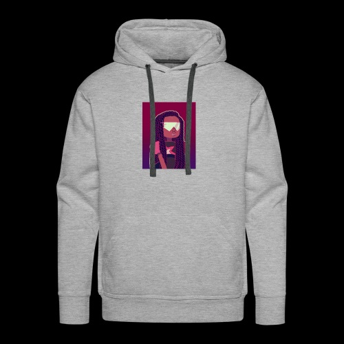 Garnet girl with Twists - Men's Premium Hoodie