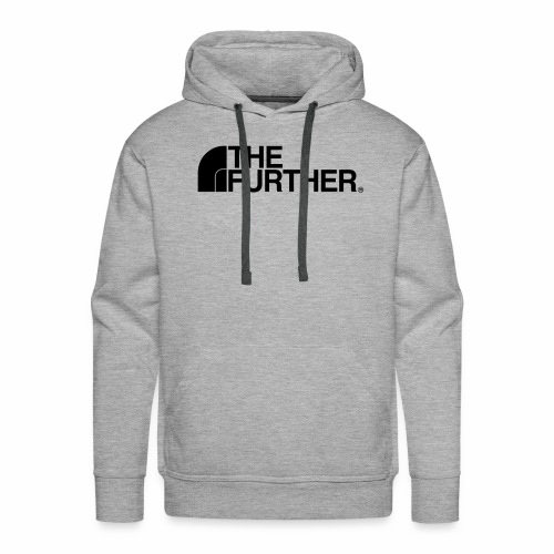 THE FURTHER FACE (BIG BLACK LOGO) - Men's Premium Hoodie