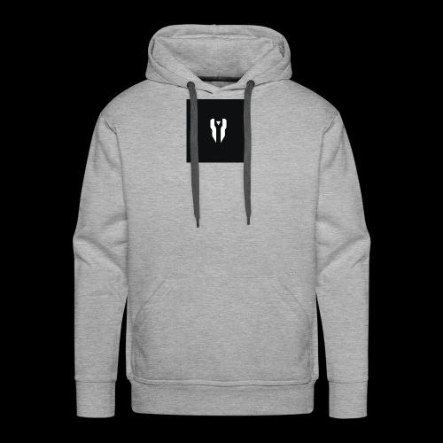 Small Black Box Divided Time Logo - Grey - Men's Premium Hoodie