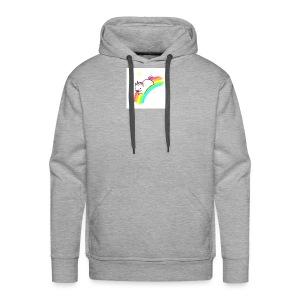 tumblr static sparkly unicorn no tag - Men's Premium Hoodie