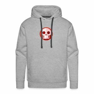 Red & White SKULL - Men's Premium Hoodie