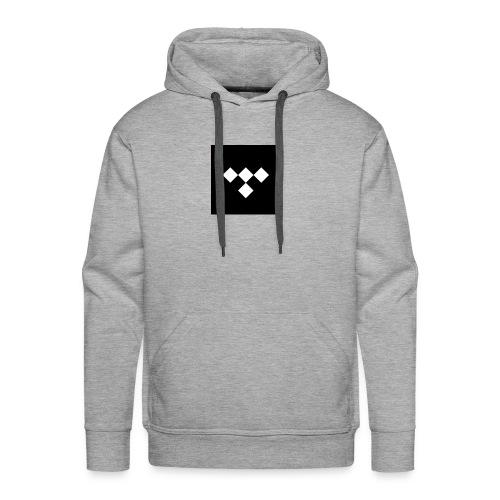 tidal square logo - Men's Premium Hoodie