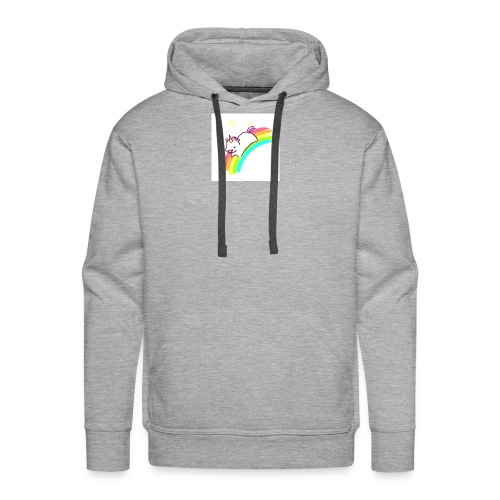 tumblr static sparkly unicorn no tag - Men's Premium Hoodie