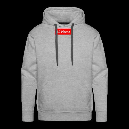 Lil Hernz Box Logo - Men's Premium Hoodie