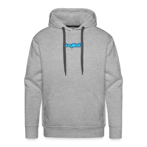 TEXT of GreyWolf - Men's Premium Hoodie