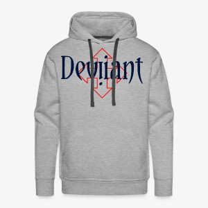 Deviiant blk center outl - Men's Premium Hoodie
