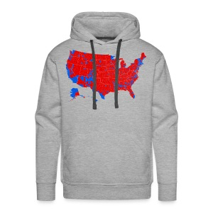 2016 Presidential Election by County - Men's Premium Hoodie