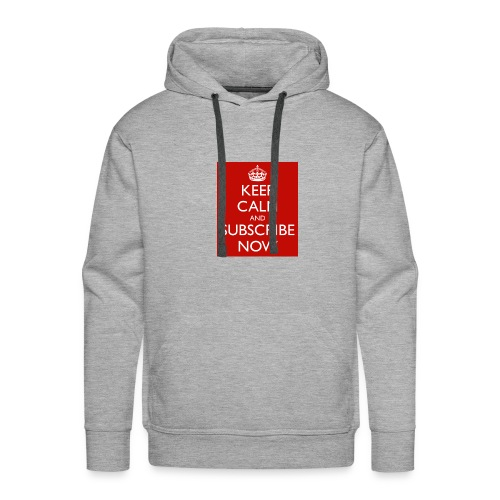 keep calm and subscribe now 75 - Men's Premium Hoodie