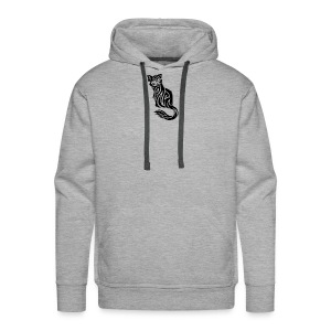 elegant-cat-with-bird-tattoo-design-5 - Men's Premium Hoodie