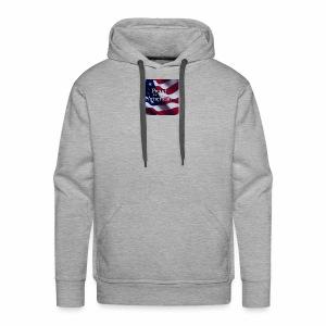 770764ed8cfed391ab7ad85ff8b8f2bb american flag am - Men's Premium Hoodie