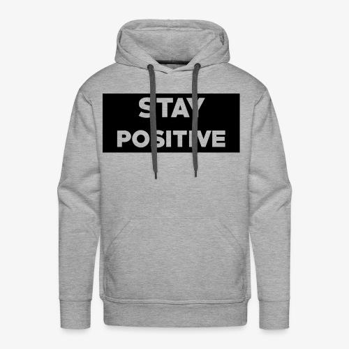 Stay Positive (Black Box) - Men's Premium Hoodie