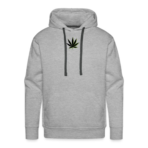 weed symbol drawing leaf - Men's Premium Hoodie