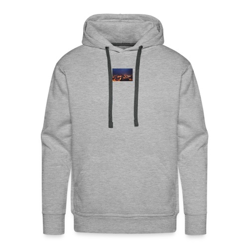 300px-Downtown_Binghamton_at_Night - Men's Premium Hoodie