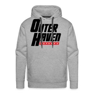 Outer Haven Black Large Logo - Men's Premium Hoodie