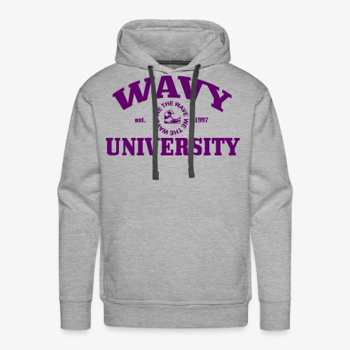 Wavy U (Purple) - Men's Premium Hoodie