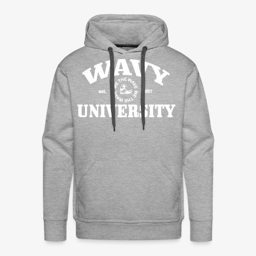 Wavy U (White) - Men's Premium Hoodie