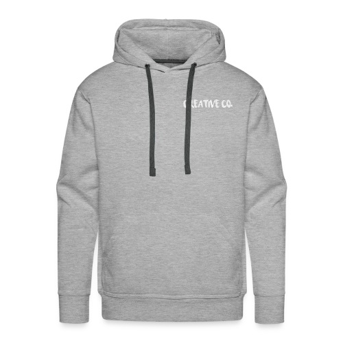 Creative Co Front Logo White - Men's Premium Hoodie