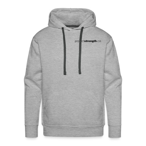 projectstrength.co - plain logo - black - Men's Premium Hoodie