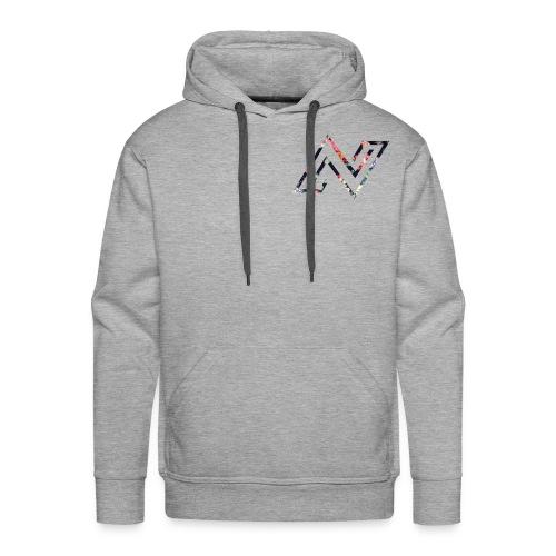 N logo Floral - Men's Premium Hoodie