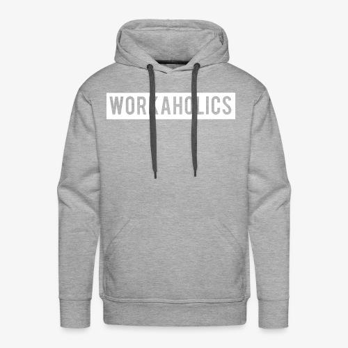 Workaholics Negative Text Logo - Men's Premium Hoodie