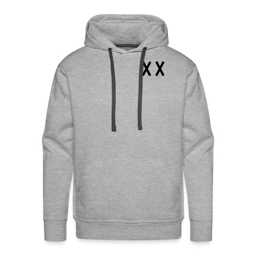 MKI Black Logo with Grey/White - Men's Premium Hoodie