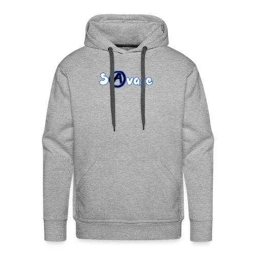 Savage logo (White) - Men's Premium Hoodie