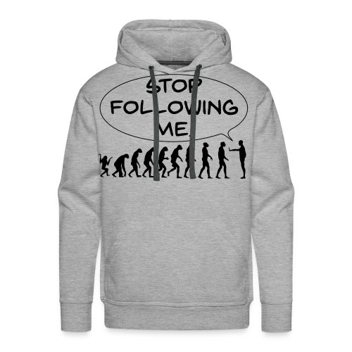 The Flight of Man - Stop Following Me! - Men's Premium Hoodie