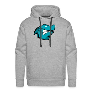JustAFish Shark Logo - Men's Premium Hoodie