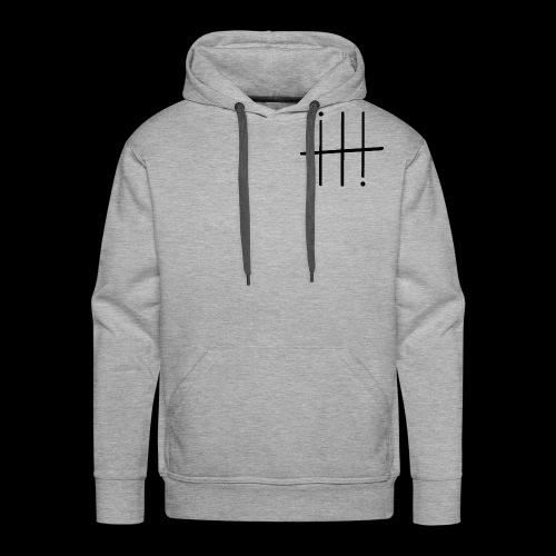 BLACK HEESH Symbol - Men's Premium Hoodie
