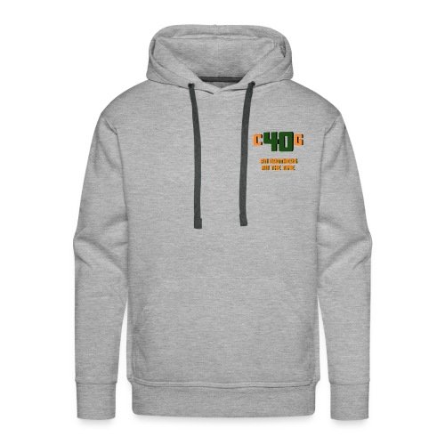 C40G Bear Quotes - Men's Premium Hoodie