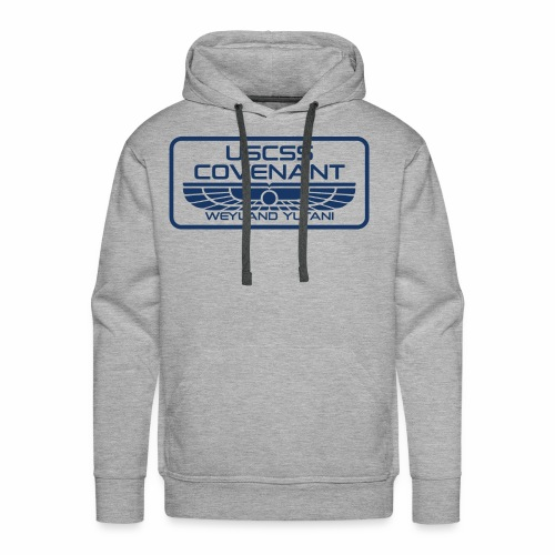 USCSS Covenant with border - Men's Premium Hoodie