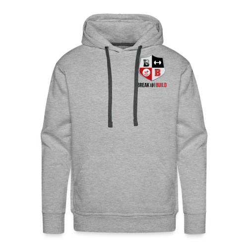 Break To Build Crest & Text - Men's Premium Hoodie