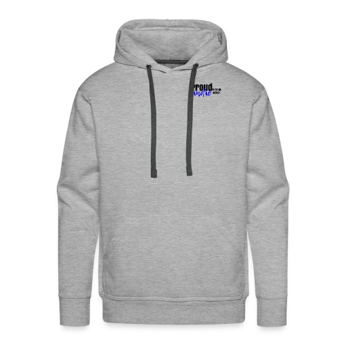 Proud to be an indie author in blue. - Men's Premium Hoodie
