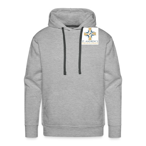 St. Andrew's small plain logo on white - Men's Premium Hoodie
