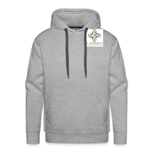 St. Andrew's small plain logo on white - Men's Premium Hoodie